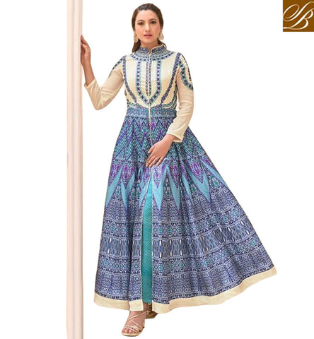 STYLISH BAZAAR BUY NEW GAUHAR KHAN EXCLUSIVE DESIGNER ANARKALI DESIGN BOLLYWOOD GOWNS AND DRESSES ONLINE COLLECTION 2017 SLSJW2101