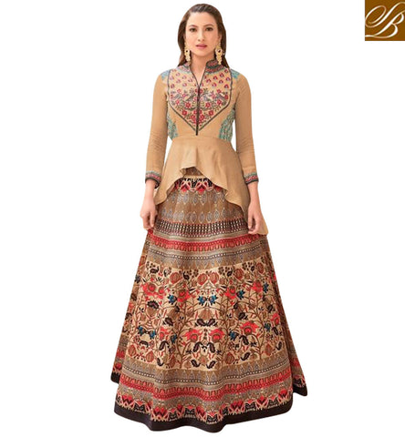 STYLISH BAZAAR BOLLYWOOD ACTRESS GAUHAR KHAN IN LATEST GHAGHRA CHOLI DESIGN BOLLYWOOD LEHENGA CHOLI ONLINE STYLISH SHOP SLSJW2102