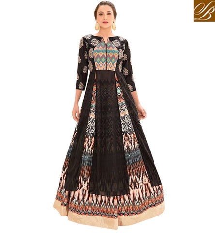 STYLISH BAZAAR BUY NEW GAUHAR KHAN BLACK GEORGETTE LEHENGA CHOLI LATEST DESIGNER BOLLYWOOD GHAGHRA CHOLI COLLECTION SLSJW2104
