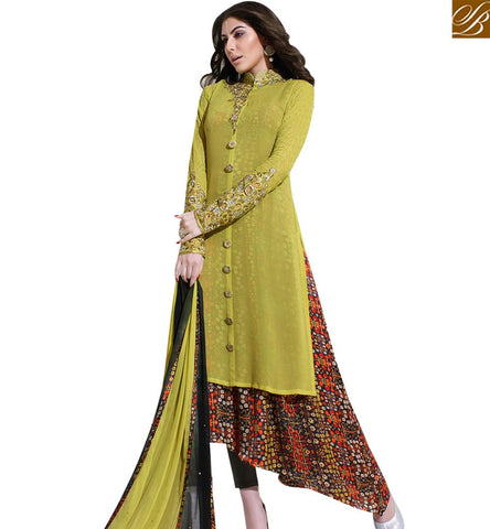 STYLISH BAZAAR NATURAL MAGIC GEORGETTE DESIGNER SUIT HAVING DIGITAL PRINT INNER SLSKR8016