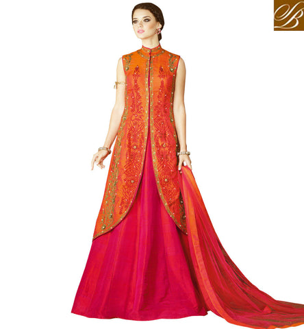 STYLISH BAZAAR BUY LATEST ETHNIC LEHENGA KAMEEZ WITH MID SLIT ONLINE WOMEN DRESS IN INDIA AND ABROAD SLSWT4907