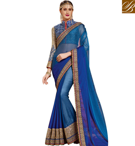 STYLISH BAZAAR APPEALING SAREES ONLINE SHOPPING INDIA LOW PRICE WITH OPTION TO PREFER JACKET OR BLOUSE AS TOP SNP19006