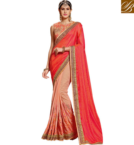 STYLISH BAZAAR CHARMING WEDDING SAREE ONLINE SHOPPING AT AFFORDABLE COST SNP19009