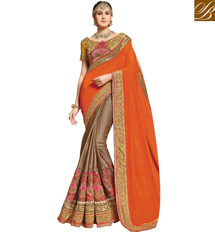 STYLISH BAZAAR CLASSY DESIGNER SAREE FOR WEDDING AND GET TOGETHER AT REASONABLE COST SNP19010