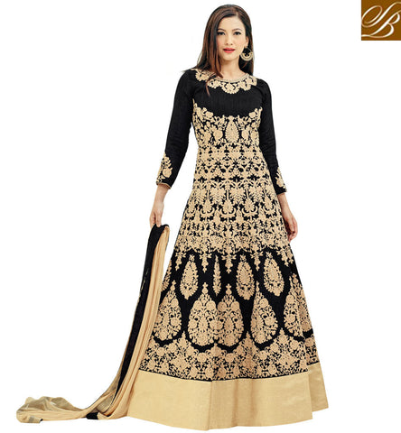STYLISH BAZAAR Buy Black Gauhar Khan wardrobe dresses designer festival anarkali dress SJW33061