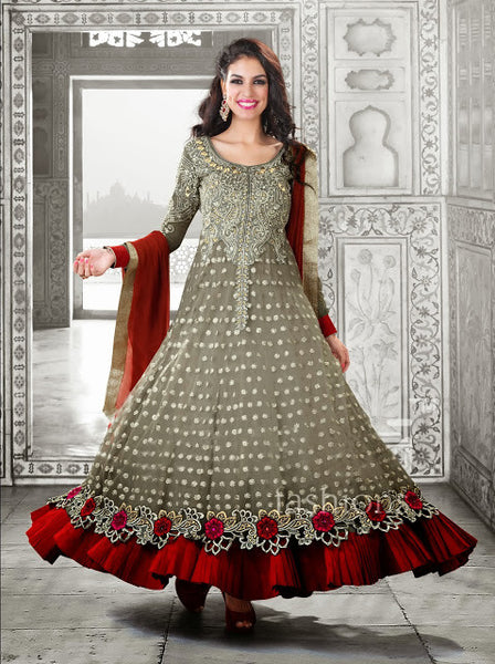 Designer Wedding Faux Georgette Anarkali with Dupatta Glamorous Suits Collection 1176