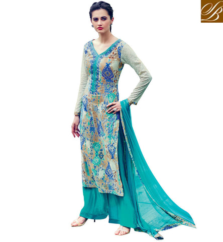 STYLISH BAZAAR SHOP V NECK LADIES COTTON SALWAAR SUIT WITH VARIANT OF BLUE AND PINK LATEST SUMMER SPRING COLLECTION VDABH20942