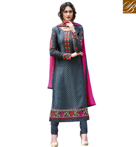 STYLISH BAZAAR SIGNIFICANT BLUE COLOUR BRASSO HAVING ELEGANT DESIGN CASUAL WEAR STRAIGHT CUT SUIT VDADR19895