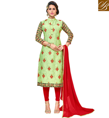 STYLISH BAZAAR Shop for green kameez with blood red ghaghra or salwaar new bridal wear VDANT21275