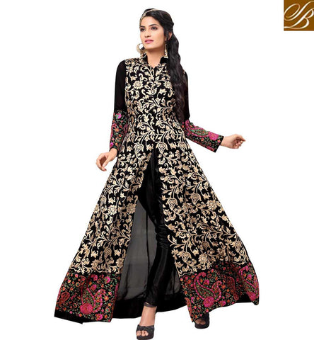 STYLISH BAZAAR WONDERFUL PARTYWEAR DESIGNER PRINTED PALAZZO SALWAR KAMEEZ SUIT INDIAN ONLINE BOUTIQUE SALWAR SUITS FOR WOMEN VDAPK20292