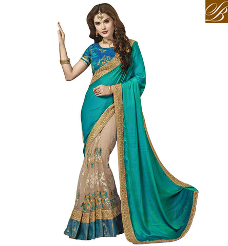 STYLISH BAZAAR BUY BLUE DESIGNER HALF SAREE SILK SAREES FOR WOMEN ONLINE SHOPPING STYLISH BAZAAR BOUTIQUE COLLECTION VDAZI19997