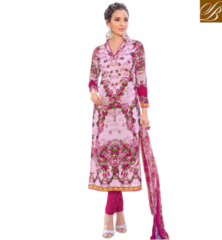 STYLISH BAZAAR BUY NEW PINK DESIGNER CASUAL COTTON DIGITAL PRINTED SHALWAR SUIT ONLINE LATEST PARTYWEAR COLLECTION VDAZR21506