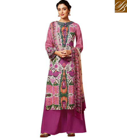 STYLISH BAZAAR BEST INDIAN SALWAAR IN PALAZZO DESIGN CHURIDDAR SUITS FOR WOMEN ONLINE SHOPPING in BABY PINK COLOR VDDHR20200