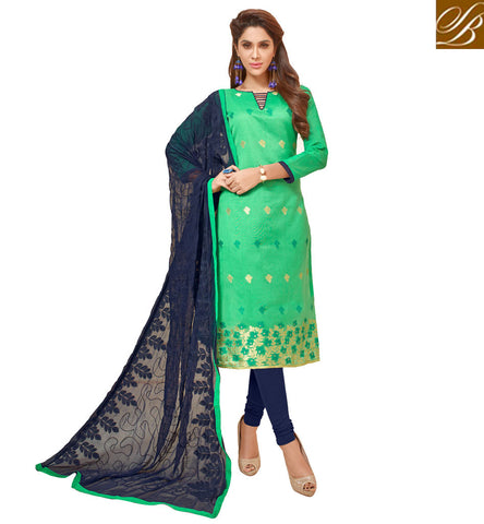 STYLISH BAZAAR UNIQUE COTTON GREEN AND NAVY BLUE SALWAR KAMEEZ NEW WOMEN SUMMER WEAR DESIGNER SALWAAR SUIT SETS VDGAN20933