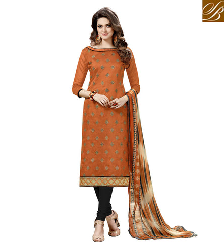 STYLISH BAZAAR BUY ELEGANT MUSTARD STRAIGHT CUT PUNJABI DRESS LATEST ONLINE COTTON SHALWAR KAMEEZ SUMMER COLLECTION 2017 VDHAY20359