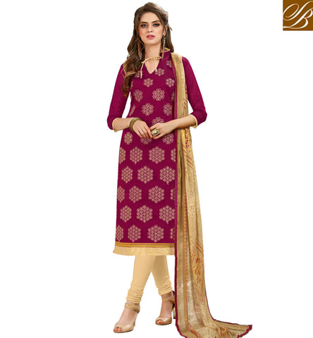 STYLISH BAZAAR DARK PINK WOMEN SALWAR KAMEEZ ONLINE DESIGNS OF BEST COTTON PUNJABI SHALWAAR SUIT SUMMER COLLECTION VDHAY20368