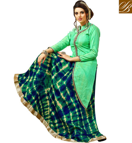 Simple green women kameez with designer ghagra latest lehenga designs VDJUL21451