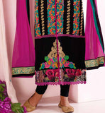 BLACK PURE GEORGETTE ANARKALI VDMAN11007