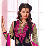 Black party wear salwar suit