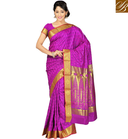 STYLISH BAZAAR BUY OCCASION WEAR PINK ART SILK SAREE IN INDIA ONLINE SHOPPING SILK SARI BLOUSE DESIGNS VDMEL20280
