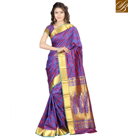 STYLISH BAZAAR BRILLIANT PURPLE ART SILK SAREE INDIAN SILK SARI STORE STYLISH BAZAAR SAREES FOR WOMEN ONLINE VDMEL20281