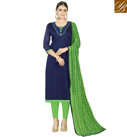 STYLISH BAZAAR BUY BLUE AND GREEN WOMEN COTTON SALWAAR DRESS SUIT LATEST SUMMER SALWAAR KAMEEZ OFFICE DESIGNS VDMND20800