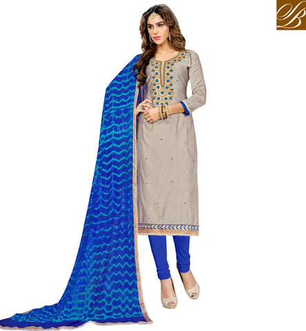 STYLISH BAZAAR GREY AND BLUE DESIGNER INDIAN SALWAR KAMEEZ ONLINE LATEST DESIGN OF ETHENIC LADIES SUMMER WEAR COLLECTION VDMNSI20525