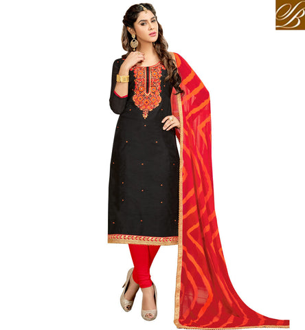 STYLISH BAZAAR BLACK AND RED SALWAR SUIT FOR WOMEN NEW INDIA SALWAAR KAMEEZ LADIES FASHION ONLINE SHOPPING VDMNSI20527
