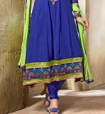 BLUE PARTY WEAR ANARKALI VDMOK8002