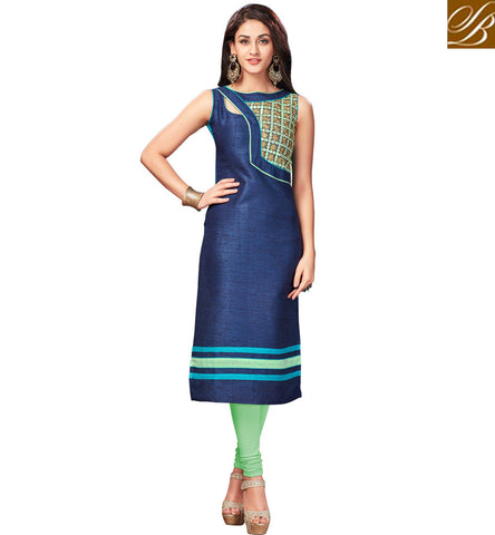 STYLISH BAZAAR BUY FASHIONABLE ROYAL BLUE KUTI BOLLYWOOD FASHION DESIGNER INDIAN TUNICS LONG KURTIS ONLINE FOR WOMEN VDNAS20261