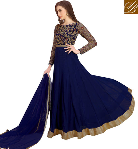 STYLISH BAZAAR Navy blue latest designer gown for in US, UK Canada VDNID23392