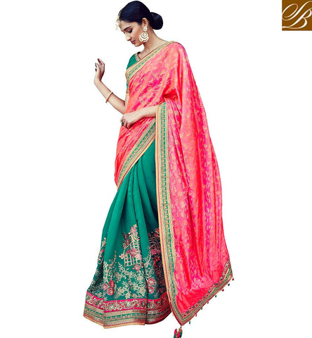 STYLISH BAZAAR GORGEOUS DESIGNER SILK SAREE ONLINE FOR WOMEN IN INDIA LATEST HALF SAREES ONLINE SHOPPING COLLECTION VDNIV20240