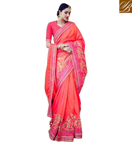 STYLISH BAZAAR LOVELY HANDLOOM SILK SARI STYLISH BAZAAR INDIAN WOMEN SAREE AT LOW PRICE WEDDING SILK SAREES COLLECTION VDNIV20245