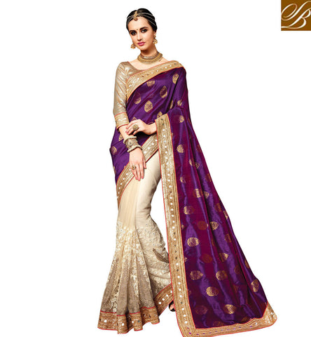 STYLISH BAZAAR STUNNING EMBROIDERED WEDDING SAREE FOR PARTY AND BRIDAL SILK SAREES WITH PRICES FOR WOMEN IN INDIA VDPKH20174