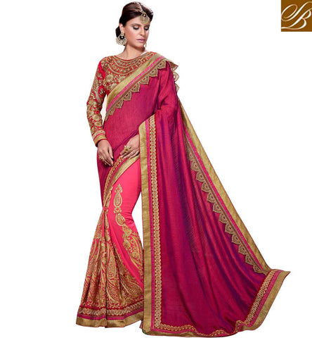 STYLISH BAZAAR RESPLENDENT HEAVY EMBEDDED SAREES ONLINE SHOPPING INDIA LOW PRICE VDSGT20112