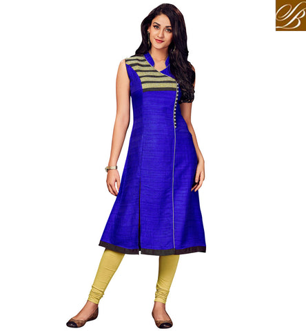 STYLISH BAZAAR SHOP BLUE LATEST KURTI DESIGN FOR WOMEN IN INDIA DESIGNER VALUE FOR MONEY KURTIS COLLECTION VDSHN21094