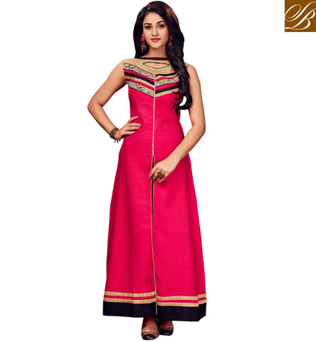 STYLISH BAZAAR LATEST PINK KEYHOLE NECK AND BACK KURTI FOR WOMEN IN INDIA VALUE FOR MONEY COLLECTION VDSHN21098