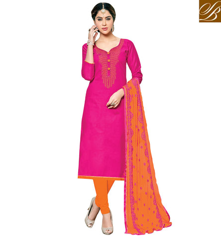 Shop sweet heart neck pink cotton casual kameez & beige women salwar VDSHY22407