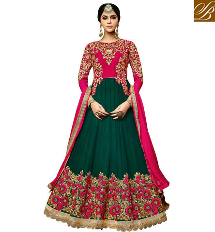 STYLISH BAZAAR LOVELY ANARKALI SUIT ONLINE INDIA INDIAN CHURIDARS LATEST SALWAR KAMEEZES FEMALE SUITS PUNJABI SALWAR SUIT DESIGNS VDSKN3992