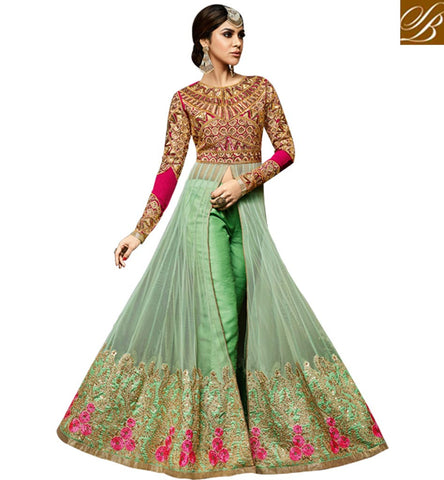 STYLISH BAZAAR IMPRESSIVE ANARKALI SALWAR KAMEEZ PLAZO PANT STYLE LATEST SALWAR SUITS SET AND PUNJABI DRESS ONLINE SHOPPING VDSKN3996