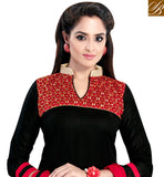 FROM STYLISH BAZAAR STAR PLUS SERIAL ACTRESS ASMITA SOOD'S ENTHRALLING SALWAR SUIT SETS SALWARS DESIGNS IN BLACK VDSZY19984