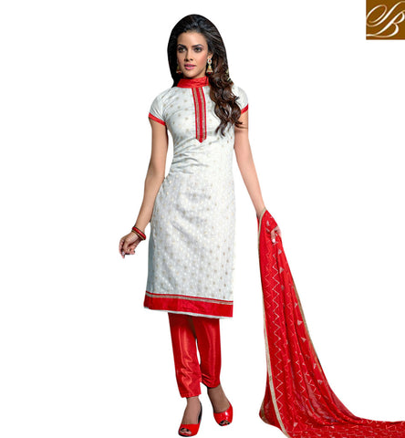 STYLISH BAZAAR ELEGANT RED AND WHITE SALWAAR KAMEEZ LATEST INDIAN PARTY WEAR SALWAR SUITS ONLINE FOR WOMEN VDVIH20266
