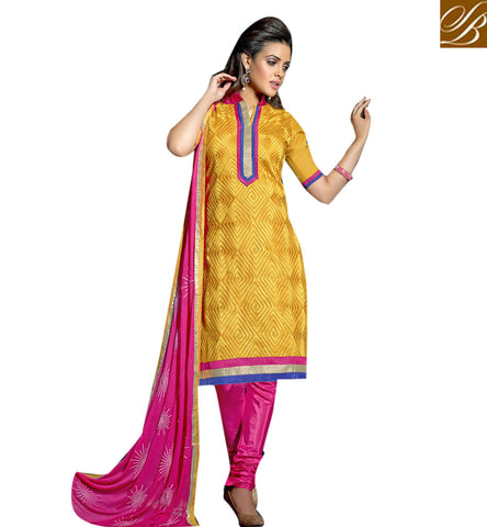 STYLISH BAZAAR BUY LATEST CASUAL PRINTED YELLOW SALWAAR KAMEEZ FOR WOMEN ONLINE LATEST SALWAR SUIT FOR WOMEN VDVIH20272