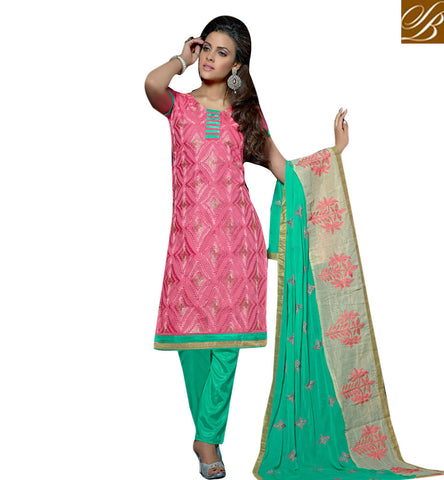 STYLISH BAZAAR GEORGEOUS BABY PINK CASUAL PRINTED SALWAR KAMEEZ SUIT ONLINE LATEST SHALWAAR AND CHURIDAAR FOR WOMAN ONLINE VDVIH20273
