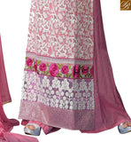 FROM THE HOUSE  OF STYLISH BAZAAR INDO WESTERN PINK HEAVILY EMBROIDERED STRAIGHT CUT DESIGNER WEAR VDSER1
