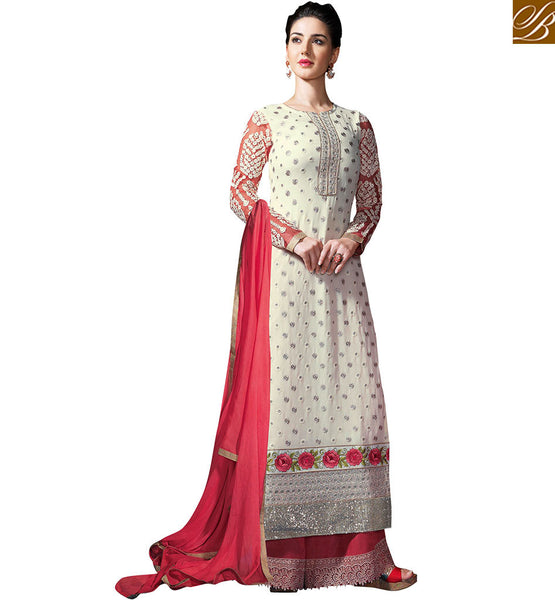 BROUGHT TO YOU BY STYLISH BAZAAR ANGELIC ATTRACTIVE EMBROIDERED PAKISTANI STYLE SALWAAR KAMEEZ  VDSER2