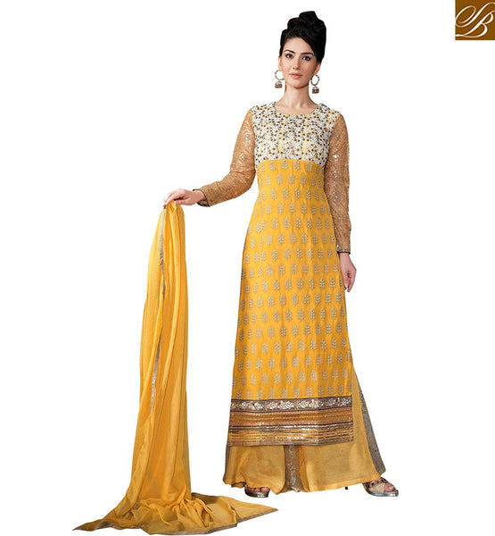 FROM THE HOUSE  OF STYLISH BAZAAR ATTRACTIVE SALWAAR KAMEEZ STRAIGHT CUT SUIT DESIGNER WEAR  VDSER7
