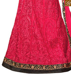 DAZZLING DUSTY PINK AND BLACK DESIGNER NET FUSION DRESS
