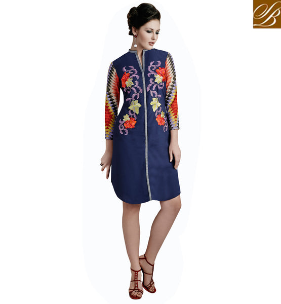 INDIAN DESIGNER KURTI TOPS FOR MODERN FASHIONISTA VDETC36