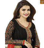 FROM THE HOUSE OF STYLISH BAZAAR BOLLYWOOD ACTRESS PRACHI DESAI IN BEAUTIFUL BLACK SALWAAR SUIT VNPD2763